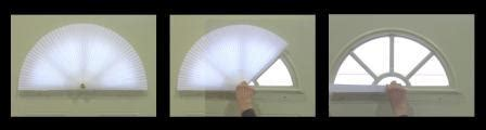 Fan Shades For Arched Windows Designs Door Window Shades Arch Window Shade