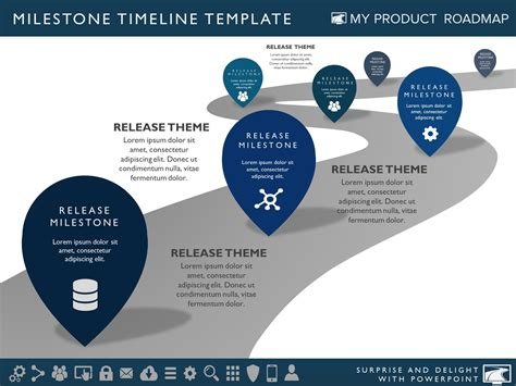 product layout powerpoint six phase product portfolio timeline roadmapping
