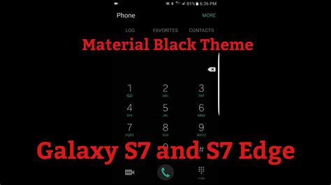 best themes for s7 edge galaxy s7 s7 edge theme material black tema marerial