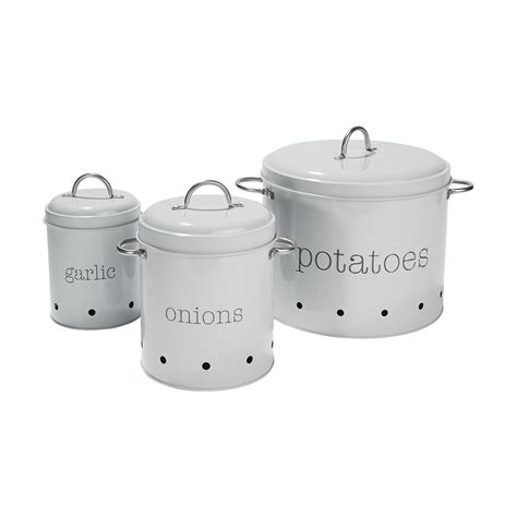 Pantry Canisters by Pantry Canister Tin Garlic Onions Potatoes Container