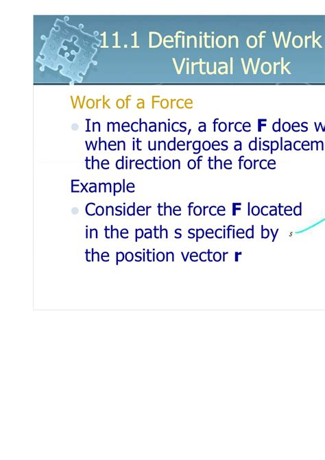 i work 6161103 11 1 definition of work and work