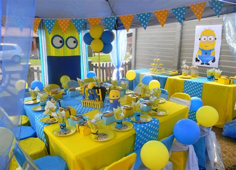 themed kiddies party decor minnions themed kiddies set up by co ords kidz party