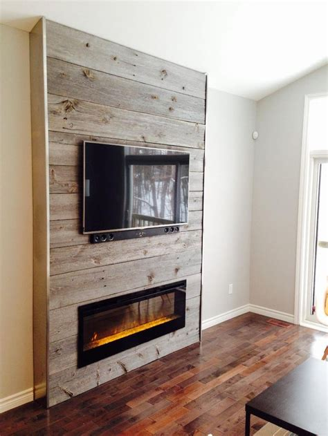tv fireplace ideas top 25 best reclaimed wood fireplace ideas on