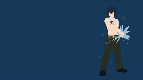 wallpaper grey fairy tail gray fullbuster fairy tail minimalistic wallpaper by