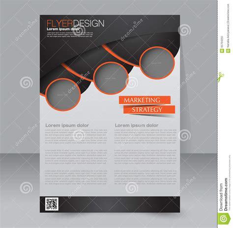 editable poster templates brochure design flyer template editable a4 poster stock