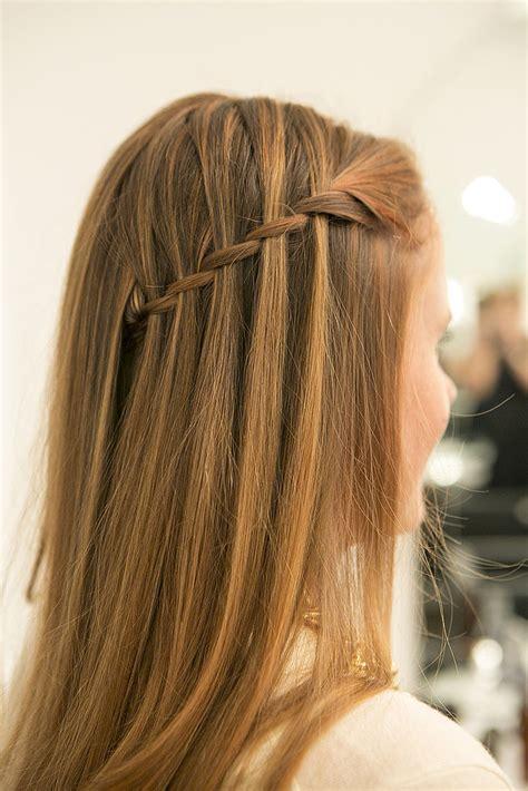 tutorial waterfall braid easy waterfall braid tutorial popsugar beauty