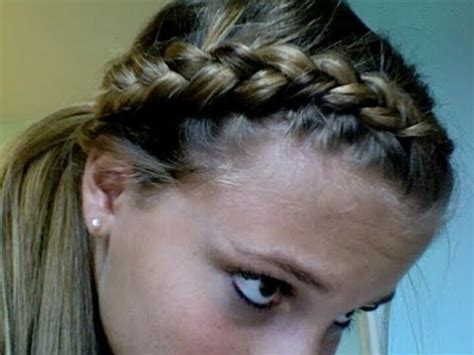 best way to put up hair for gymnastics meet dutch braid ponytail