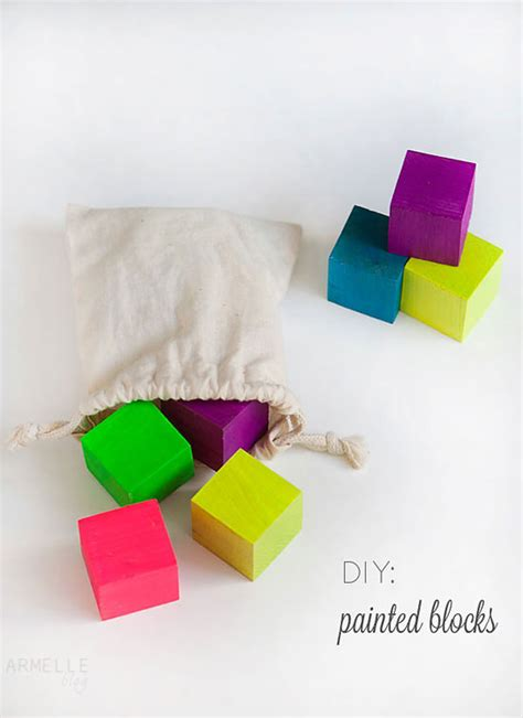 colored blocks diy custom colored blocks armelle