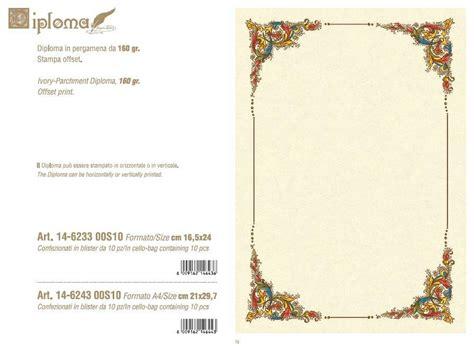 cornice diploma pergamena kartos diploma 16 5x24 c cornice 160gr fg10 14