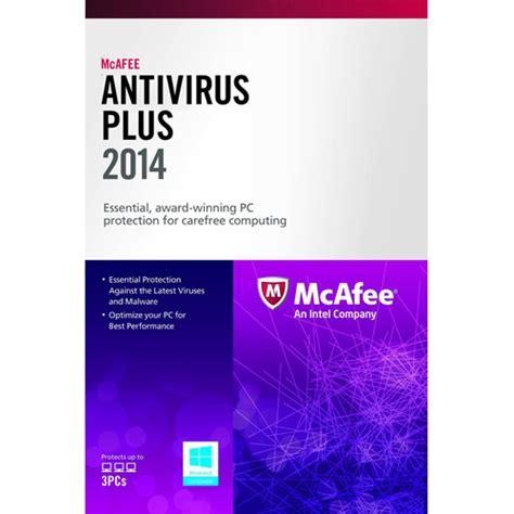 Sale Mcafee Security 2014 3pcs mcafee antivirus plus 2013 free