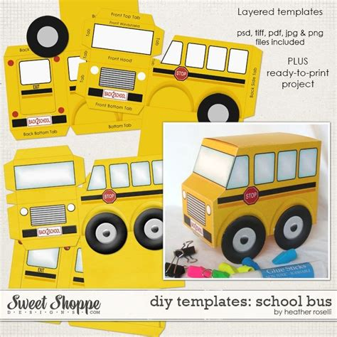 bus card template 17 best images about diy paper project templates