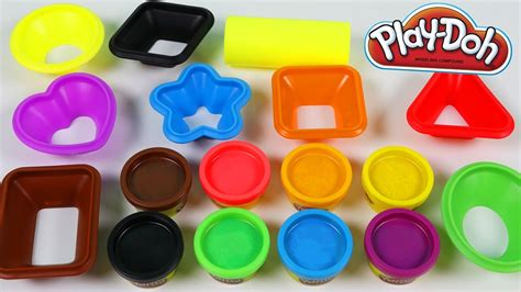 play doh colors play doh learn colors and shapes playset