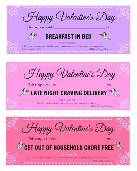 valentines coupons free valentine s day printable coupons