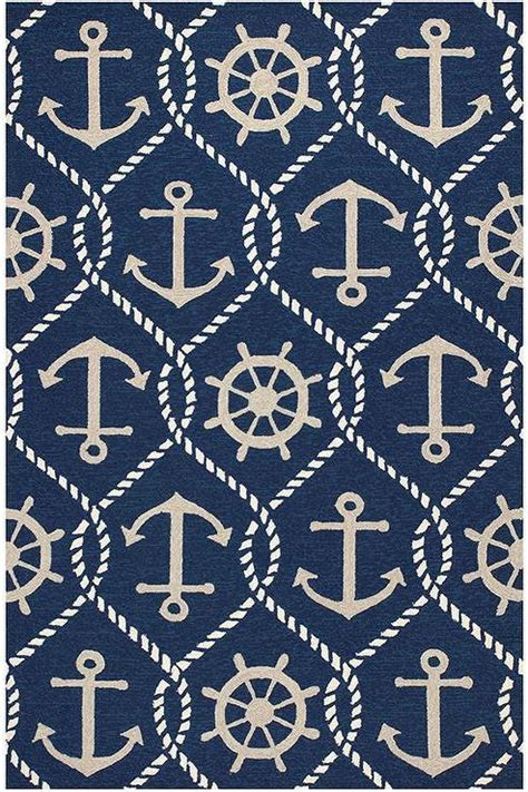 Navy Nautical Symbols Rug Rug Symbols