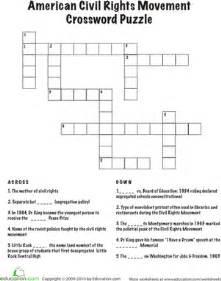 civil rights crossword worksheet education com