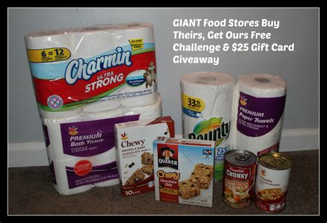 Giant Food Stores Gift Cards - giant food stores buy theirs get ours free challenge 25 gift card giveaway