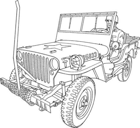 coloriage véhicule militaire   coloriages à imprimer