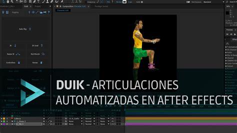 tutorial after effects duik tutorial duik articulaciones automatizadas en after