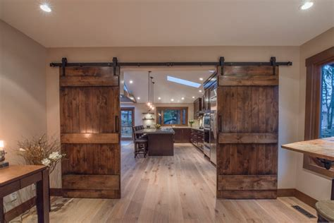 double entry barn doors rustic home office vancouver