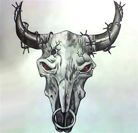 bull skull tattoo meaning amazing bull skull design
