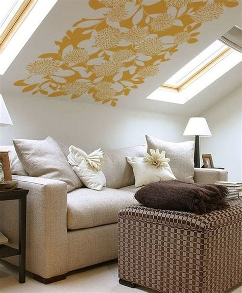 slanted wall decor cool idea for a slanted ceiling diy home decor projects