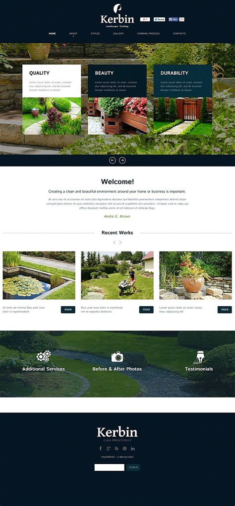 cms templates landscape design flash cms template 51264