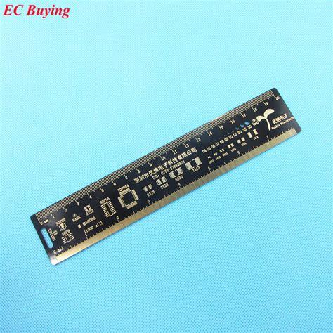 measure capacitor on pcb 1 pcs multifunctional pcb ruler 20cm measuring tool