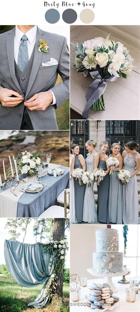gorgeous dusty blue wedding color ideas   brides