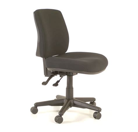 Buro 247 Black Chair by Roma 2 Lever Mid Back Chair Direct Office Furniture