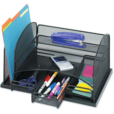 Desk Tray Organizers Safco 3 Drawer Desk Organizer Steel Walmart