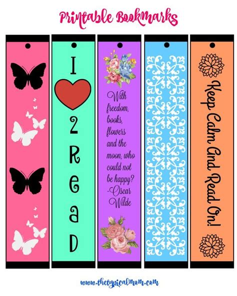 printable bookmarks for volunteers free printable bookmarks 183 the typical mom