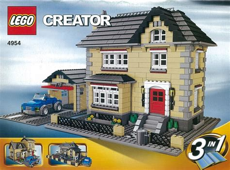 House Creator 4954 1 model town house brickset lego set guide and