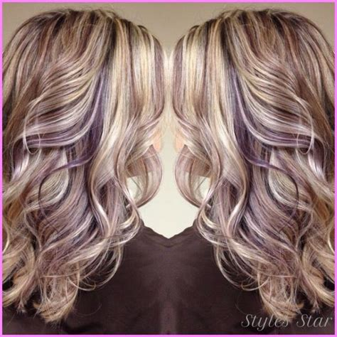 hair color pictures blonde purple lowlights awesome blonde hair with purple lowlights stars style