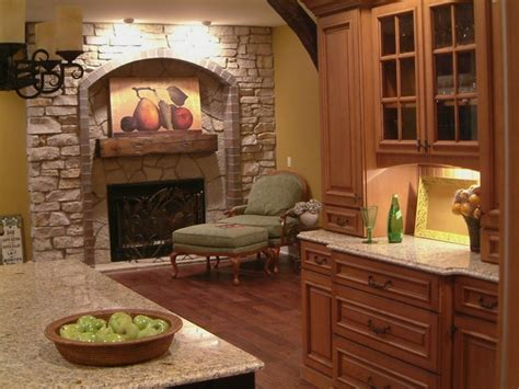 kitchen fireplace designs traditional kitchen
