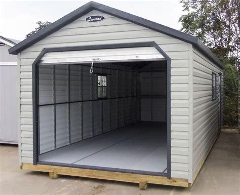 leonard  steel frame lap metal sided storage building