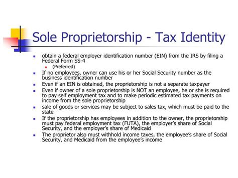 sole proprietorship is the simplest form ppt tax and legal issues powerpoint presentation id