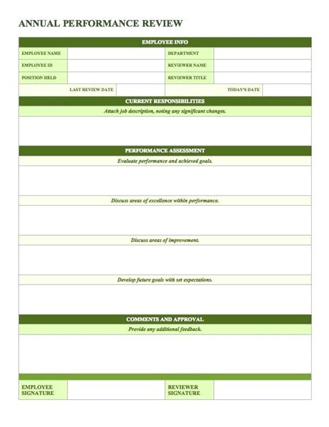 performance plan template virtuart me 48 download