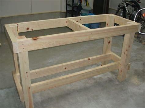garage workbench plans  basement pinterest