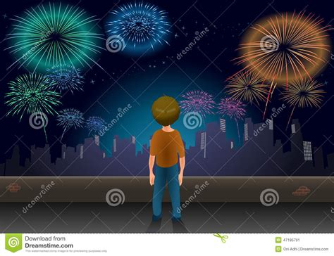 new year time out boy alone at new year stock illustration image 47185791