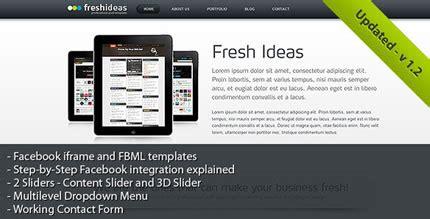 creative facebook html design templates | entheos