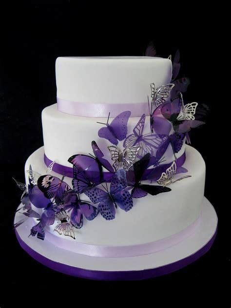 Purple Butterfly Wedding Cake   Rachel   Flickr
