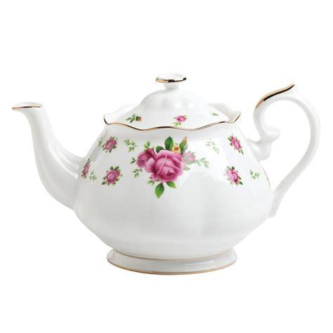 A Pot Of Tea new country roses white vintage teapot royal albert us