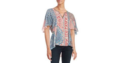 Patchwork Top - sanctuary patchwork peasant top in multicolor patchwork