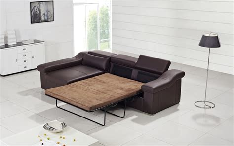 pull out sofa t136 modern brown leather sofa w pull out sofa bed