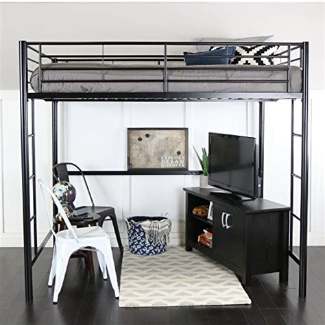 full size metal loft bed we furniture full size metal loft bed back beds