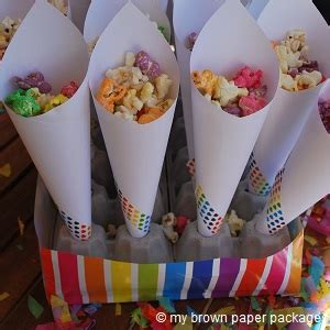 How To Make Paper Cones For Food - popcorn cone stand my brown paper packages