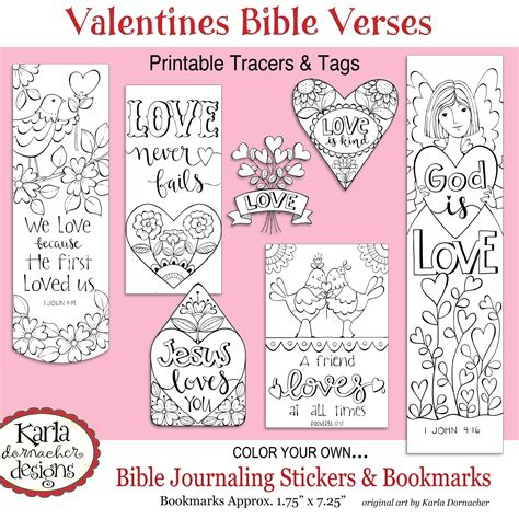 printable bible verse tags valentine love bible journaling printable coloring collection