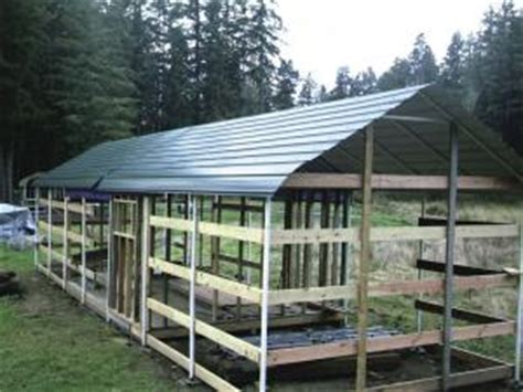 Small Dairy Goat Barn Plans Farm Show Carports Turned Into Low Cost Barn