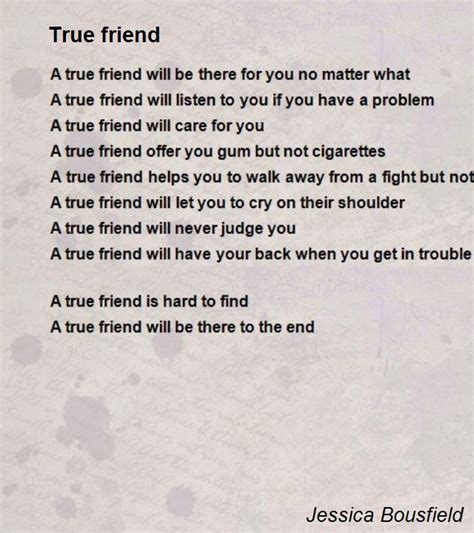 true friend poems true friend poem by jessica bousfield poem hunter comments
