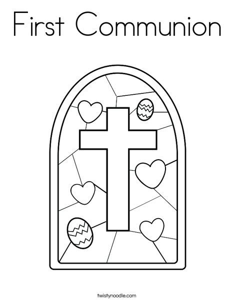first communion coloring page twisty noodle